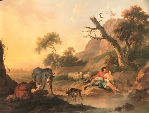 Jacob XAVERY - Gemälde - Herdsmen with Cattle in a Landscape