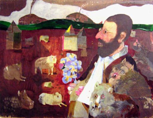 Antonio POSSENTI - Pintura - L'uomo e il morso del cane