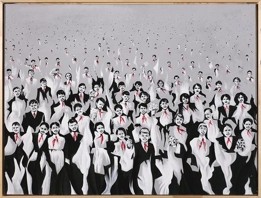 Alexej Alexejewitsch SUNDUKOV - Painting - Soar bonfires