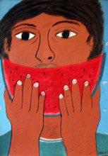 Francisco VIDAL (1946) - Boy eathing watermelon