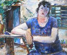Bruno INNOCENTI - Pintura - La Bruna in giardino