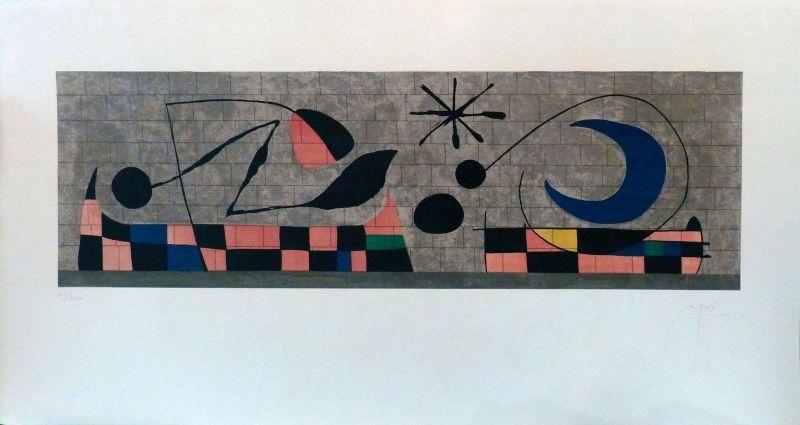 Joan MIRO - Estampe-Multiple - Mur de la Lune