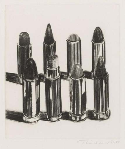 Morton Wayne THIEBAUD - Print-Multiple - Eight Lipsticks