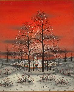 Manfred HORN - 绘画 - Weihnacht Winter