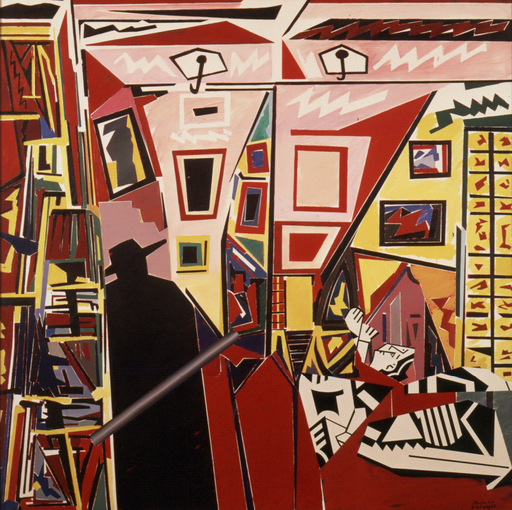Manolo VALDÉS - Painting - Capa negra