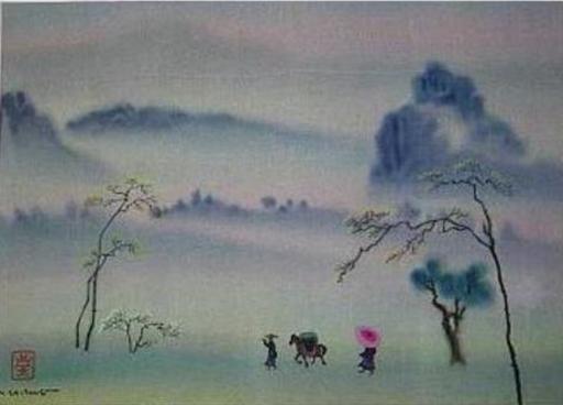 Mai LONG - Painting - Lonely Caravan, Long 03