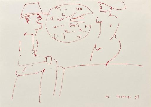 Manuel HERNÁNDEZ MOMPO - Drawing-Watercolor - Hombre y mujer voceando