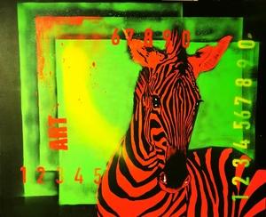 Dominique DOERR - Peinture - New color zèbre