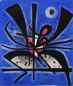 Bernard QUENTIN - Dibujo Acuarela - Circa 1952 Composition