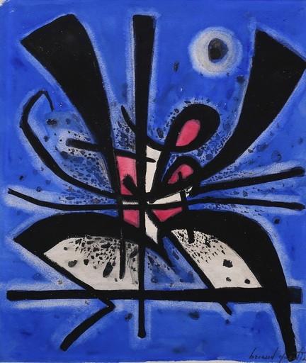 Bernard QUENTIN - Drawing-Watercolor - Circa 1952 Composition