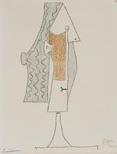 巴勃罗•毕加索 - 版画 - Tête de femme