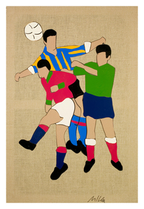 Marco LODOLA - Painting - Goal