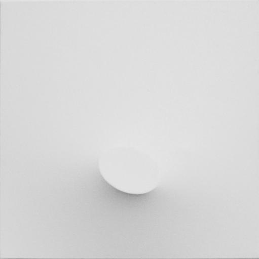 Turi SIMETI - Peinture - un ovale bianco