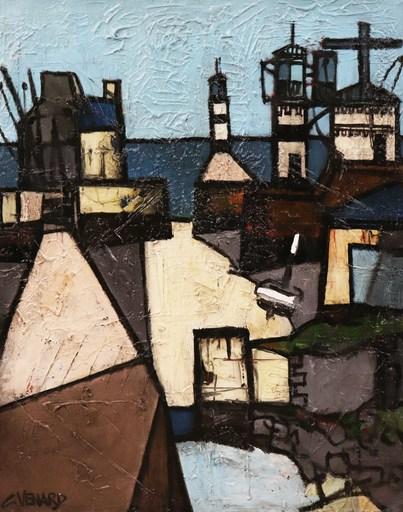 Claude VENARD - Gemälde - Maisons de pêcheur