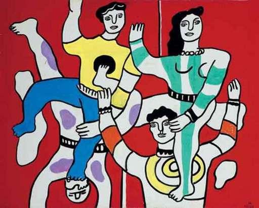 Fernand LÉGER - Peinture - Les Quatre Acrobates