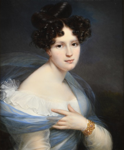 François-Joseph KINSON - Gemälde - Portrait de Madame Heme,  nièce du peintre