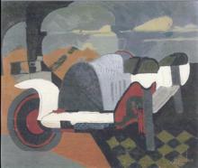 Charles LAPICQUE - Peinture - La Bugatti