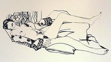 Tom WESSELMANN - Print-Multiple - MONICA NUDE WITH PURPLE ROBE