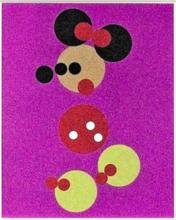 达米恩•赫斯特 - 版画 - Minnie (Pink Glitter)