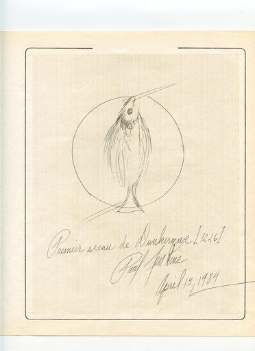 Paul JENKINS - Dibujo Acuarela - DESSIN À L'ENCRE 1984 SIGNÉ HANDSIGNED INK DRAWING DUNKERQUE