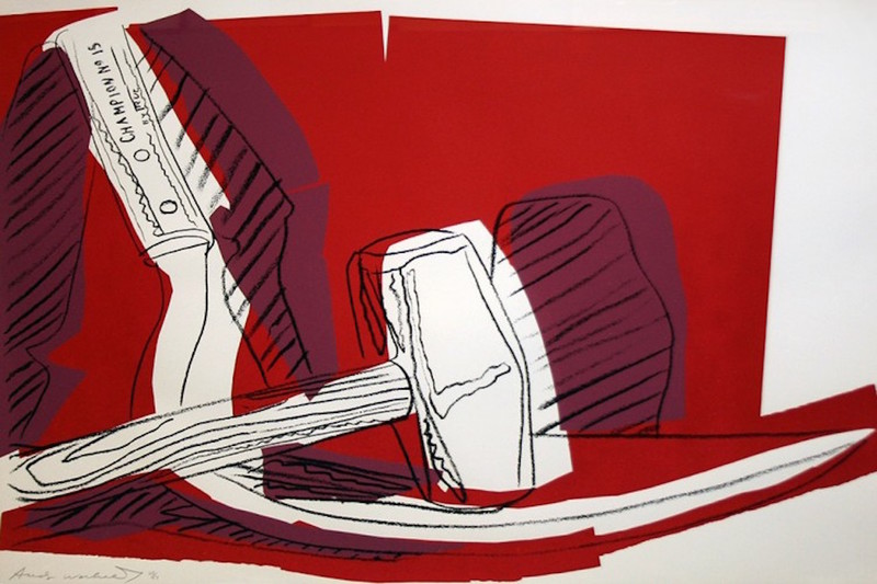 Andy WARHOL - Stampa-Multiplo - Hammer and Sickle (FS II.162)