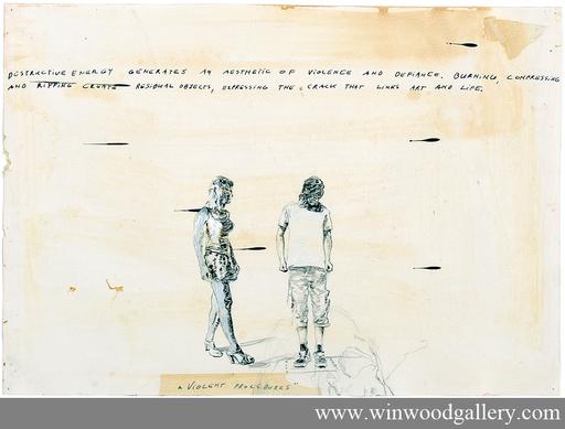 Luc DONDEYNE - Disegno Acquarello - Violent procedures