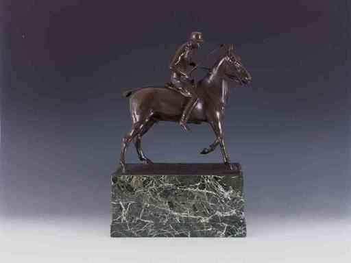 Johan Eduard DANNHAUSER - Escultura - Polospieler