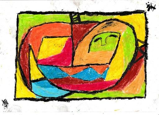 Harry BARTLETT FENNEY - Disegno Acquarello - cat, asleep