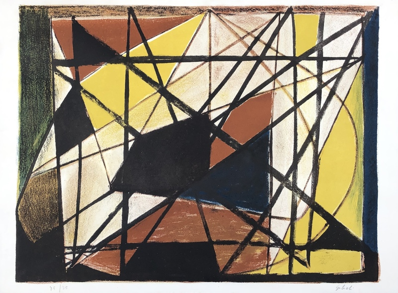 Émile GILIOLI - Estampe-Multiple - Abstraction