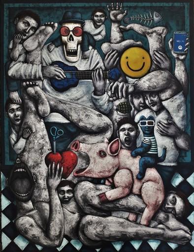 Nicolas MONJO - Pittura - A coeur ouvert