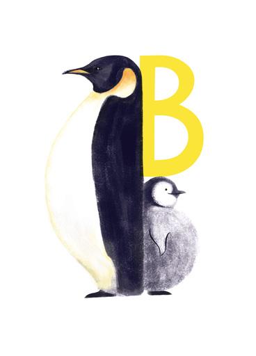 Rocío DEL MORAL - Estampe-Multiple - Animal Alphabet - The letter B    (Cat N° 6175)