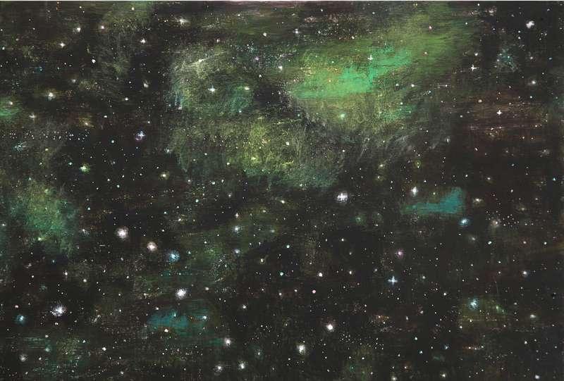 Natale ADDAMIANO - Peinture - Con le stelle