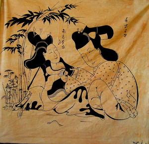 Hashka HU IZEN - Peinture - Loved garden 2