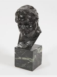 Auguste RODIN - Sculpture-Volume - Balzac, étude C (buste), 3ème version, petit modèle