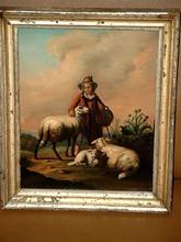 Joseph KINZEL - Pintura - Kleine Schäferin.