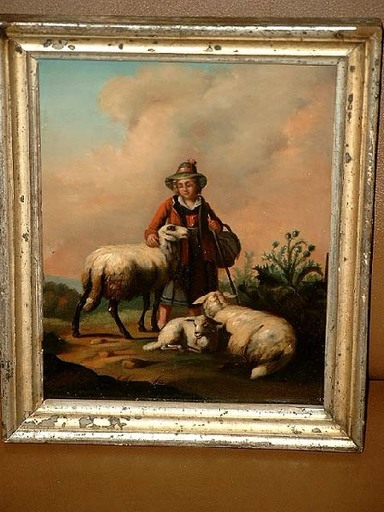 Joseph KINZEL - Painting - Kleine Schäferin.