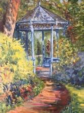 Anne DE LARMINAT - Painting - Le Kiosque