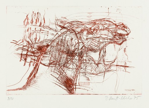 "Dagmar RANFT-SCHINKE - Grabado - ""Apokalypse"", 1975"