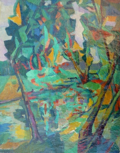 Macario VITALIS - 绘画 - paysage de Bretagne