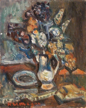 Pinchus KREMEGNE - Pintura - Still Life with Bouquet of Flowers