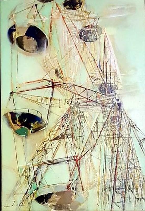 Jean Théobald JACUS - Peinture - La grande roue