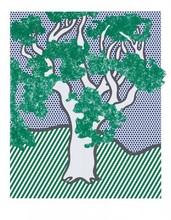 罗伊•利希滕斯坦 - 版画 - Rain Forest