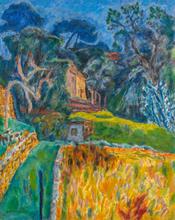 Pierre BONNARD - Peinture - Paysage Méridional, l'enclos aux chèvres