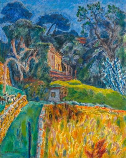 Pierre BONNARD - Pintura - Paysage Méridional, l'enclos aux chèvres