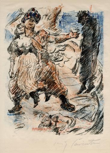 洛维斯·科林斯 - 版画 - Aline fällt in die Hand der Korsaren