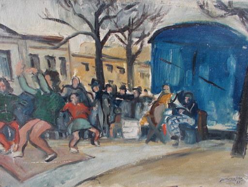 Guillaume GILLET - Gemälde - la fete