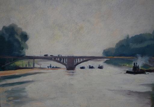 """Charles PICART LE DOUX - Peinture - """"Bords de Seine"""""""