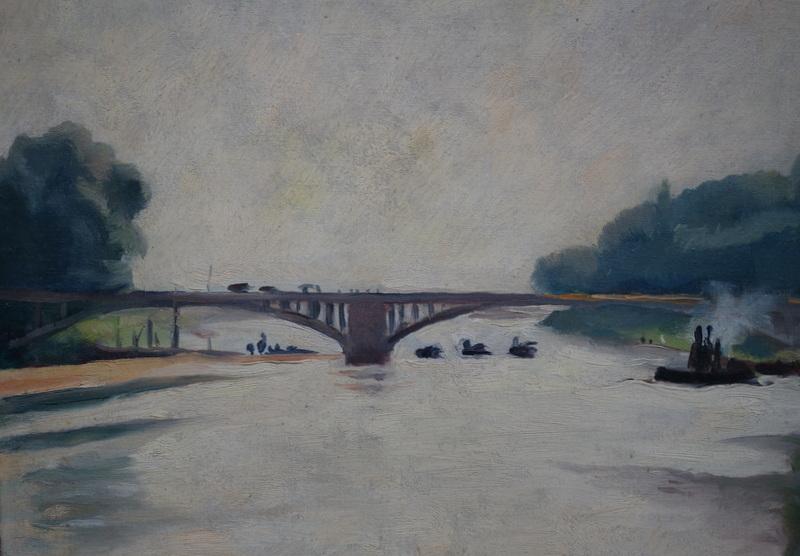 """Charles PICART LE DOUX - Painting - """"Bords de Seine"""""""