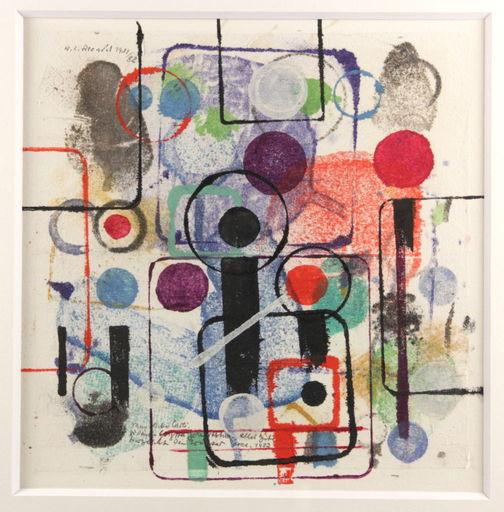 Walter L. BRENDEL - Dessin-Aquarelle - Abstrakte Komposition 1982