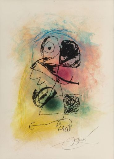 Joan MIRO - Stampa-Multiplo - Le souriceau